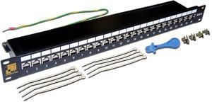 Патч-панель Lanmaster LAN-PPL24S6 24 порта STP кат.6 1U патч панель itk pp24 1uc5es d05 1u 24 порта кат 5е stp idc dual