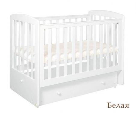 Кроватка с маятником Лель Ромашка АБ16.2 (белый)