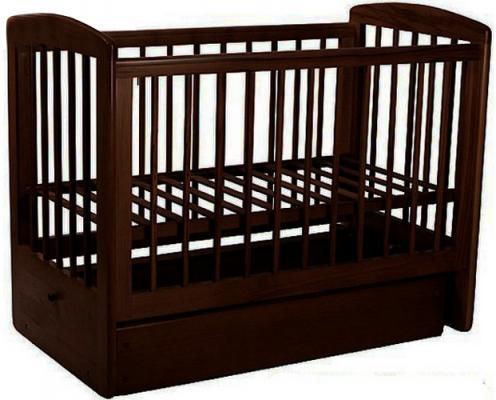 Кроватка с маятником Лель Ромашка АБ16.2 (венге)