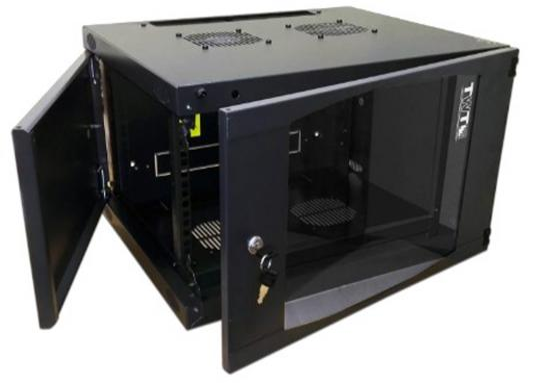 Шкаф настенный 9U Lanmaster TWT-CBWNG-9U-6X6-BK 550x600mm черный 60кг
