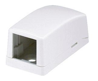 лучшая цена Розетка Panduit CBX1AW-A настенная 1 модуль белый