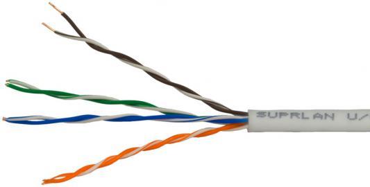 Кабель U/UTP indoor 4 пары категория 5e SUPRLAN Standard одножильный 4x2xAWG24 100% медь PVC 50м