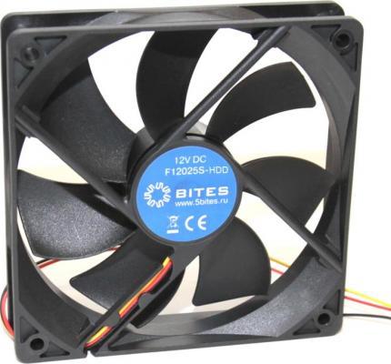 Вентилятор 5bites F12025S-HDD 120x120x25 4pin 25dB 1200rpm