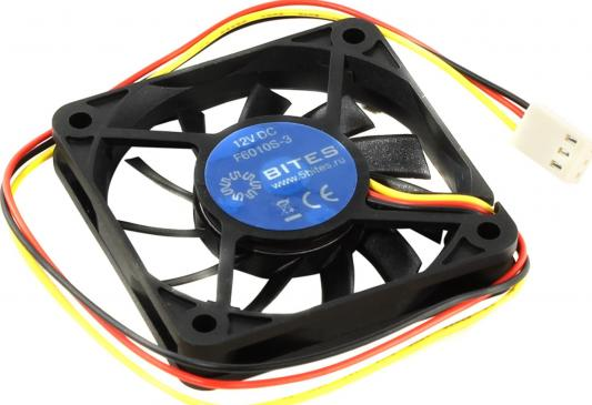 Вентилятор 5bites F6010S-3 60x60x10 3pin 26dB 3500rpm цена и фото