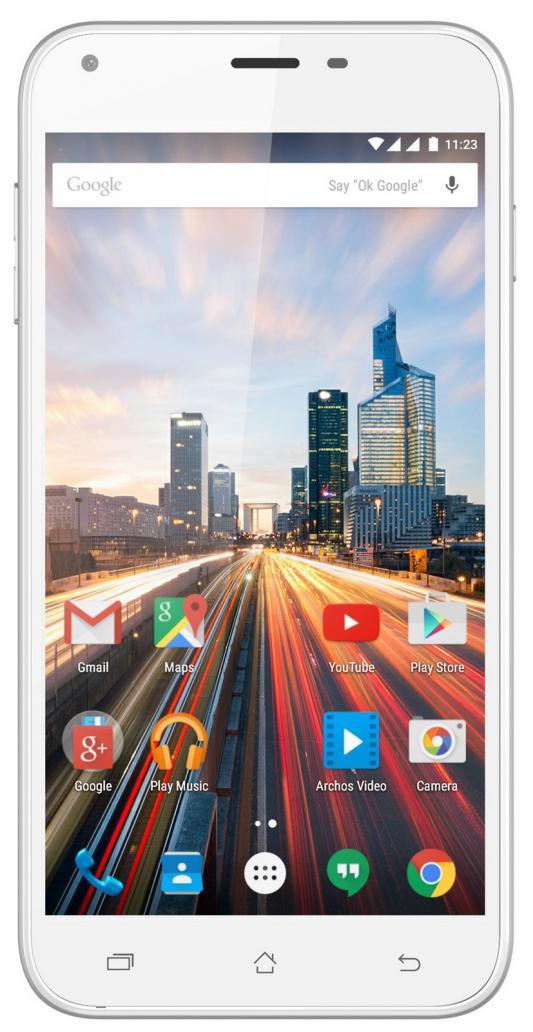"Смартфон ARCHOS 55 Helium Plus белый 5.5"" 8 Гб LTE Wi-Fi GPS 3G"