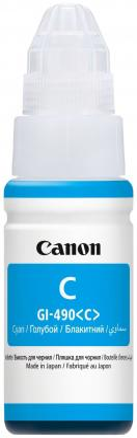 Чернила Canon GI-490 C для G1400/G2400/G3400 голубой 7000стр 0664C001 чернила canon gi 490c 0664c001