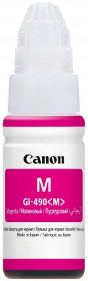Чернила Canon GI-490 M для G1400/G2400/G3400 пурпурный 7000стр 0665C001 2400 1400