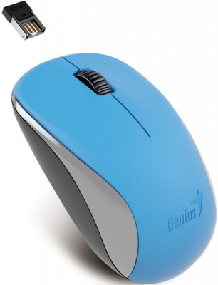 все цены на Мышь беспроводная Genius NX-7000 синий USB онлайн