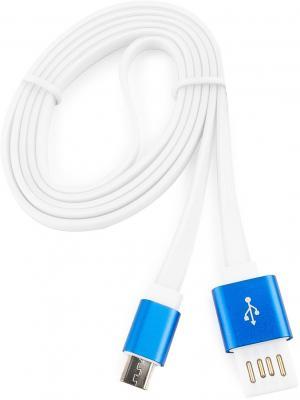 Кабель microUSB 1м Cablexpert плоский CC-mUSBb1m кабель microusb 1м konoos круглый kc musb3ng