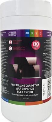 Влажные салфетки CBR CS 0033-80 80 шт