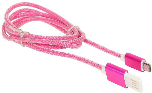 Кабель USB 2.0 AM-microBM 1м Gembird розовый металлик CCB-mUSBr1m