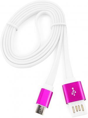 Кабель microUSB 1м Cablexpert плоский CC-mUSBr1m кабель usb2 0 microusb partner 1м 2 1a оранж плоский