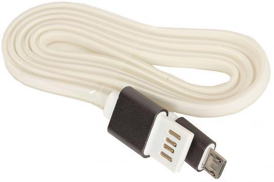 Кабель microUSB 1м Cablexpert плоский CC-mUSBgy1m кабель usb 2 0 cablexpert am microbm 5p 1м темно серый металлик cc musbgy1m