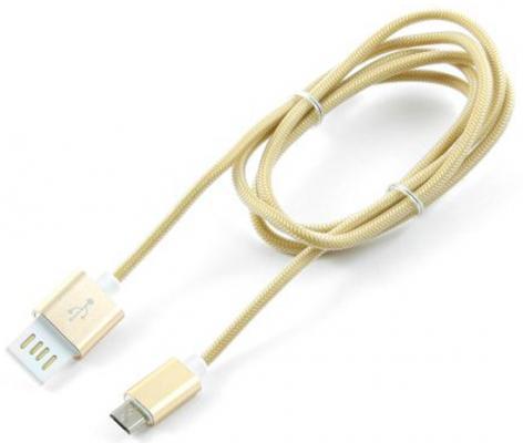 Кабель USB 2.0 AM-microBM 1м Gembird золотистый металлик CCB-mUSBgd1m кабель usb 2 0 am microbm 1м gembird золотистый металлик cc musbgd1m