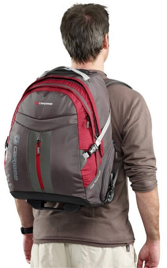 Рюкзак на колесах CARIBEE Time Traveller 19 35 л серый красный 68131 от 123.ru