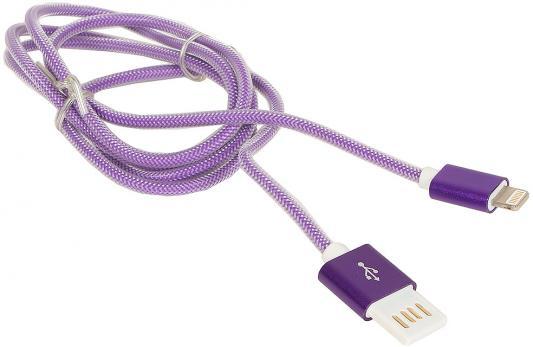 Кабель Gembird USB2.0 AM-Lightning 8P фиолетовый металлик 1м CCB-ApUSBp1m