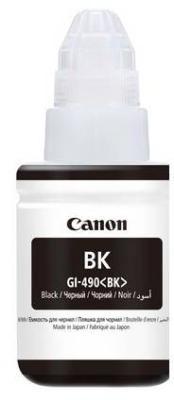 Чернила Canon GI-490 BK для G1400/2400/3400 черный 0663C001 принтер g1400