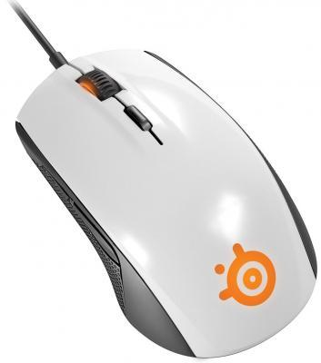 Мышь проводная Steelseries Rival 100 белый USB 62335