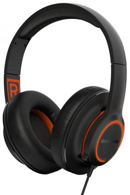 игровые наушники steelseries siberia v2 full size headset msi edition Гарнитура SteelSeries Siberia 150 черный 61421