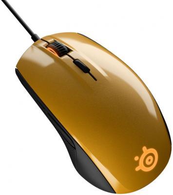 Мышь проводная Steelseries Rival 100 Alchemy золотистый чёрный USB 62336