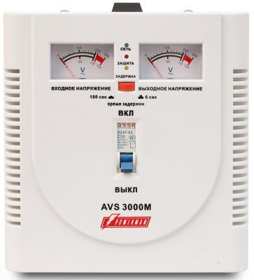 Стабилизатор напряжения Powerman AVS-3000M 3000VA белый