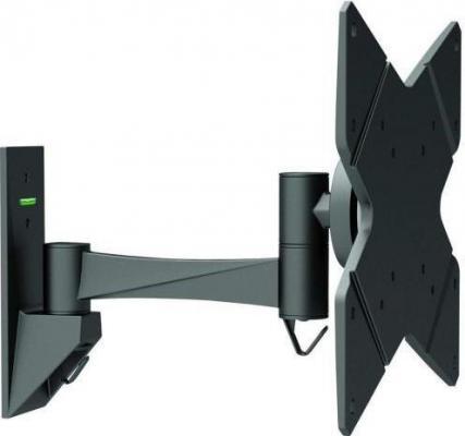 Кронштейн Ultramounts UM213 черный 23-42 настенный от стены 97мм VESA 75x75 до 20кг кронштейн ultramounts um102 черный