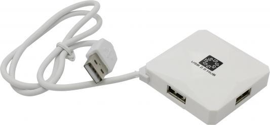 Концентратор USB 5bites HB24-202WH 4 порта USB2.0 белый