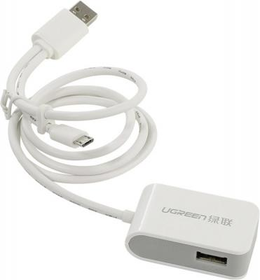 Концентратор USB 2.0 Green Connection GC-U2O2P 2 х USB 2.0 белый