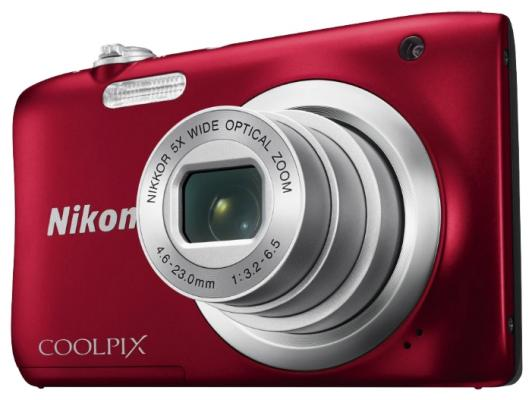 Фотоаппарат Nikon Coolpix A100 20Mp 5x Zoom красный