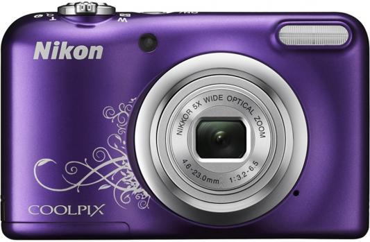 Фотоаппарат Nikon Coolpix A10 16Mp 5x Zoom фиолетовый с рисунком