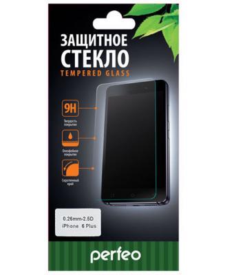 Защитное стекло Perfeo для iPhone 6 plus/6S plus глянцевое защитная пленка для iphone 6 plus 6s plus cellular line spefiph655