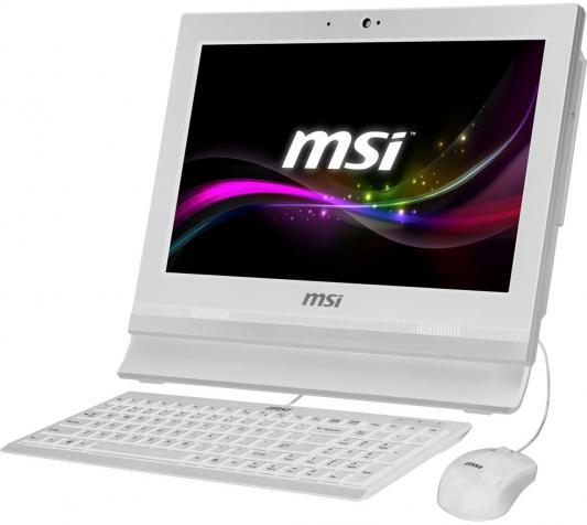 Моноблок MSI AP1622ET-036RU 1366 x 768 Touch screen Intel Celeron-1037U 4Gb 500Gb Intel HD Graphics 64 Мб Windows 10 Home белый 9S6-A61512-036 9S6-A61512-036