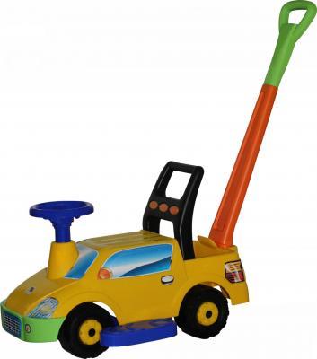 Каталка-машинка Полесье Пикап желтый от 1 года пластик 3552 каталка на палочке полесье утёнок пластик от 1 года с ручкой желтый 7925
