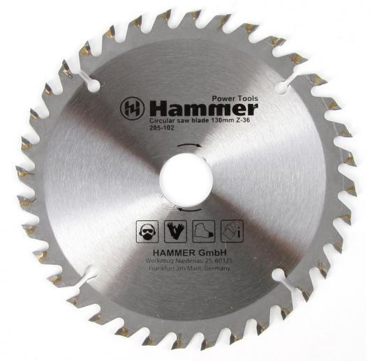 Пильный диск Hammer Flex 205-102 CSB WD 130ммх36х20/16мм по дереву 30652