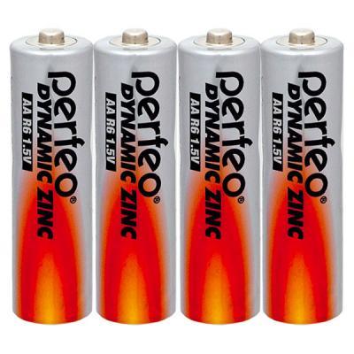 Батарейки Perfeo R6/4SH Dynamic Zinc AA 4 шт 1pcs lot battery holder box case 3x aa 4 5v with switch