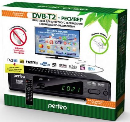 Тюнер цифровой DVB-T2 Perfeo PF-168-3-IN