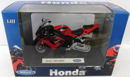 Мотоцикл Welly Honda CBR1000RR 1:18 welly мотоцикл honda hornet