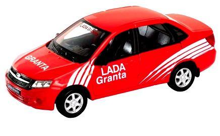 Автомобиль Welly Lada Granta - Rally 1:34-39 красный