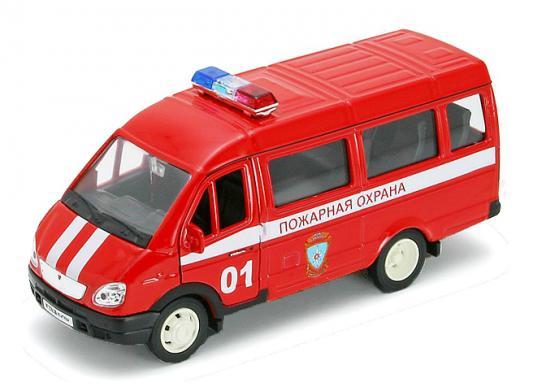 Пожарная охрана Welly Газель 1:34 красный welly welly набор служба спасения пожарная команда 4 штуки