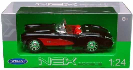 Автомобиль Welly Chevrolet Corvette 1957 1:24 игрушка maisto 1957 chevrolet bel air 81302