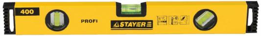 Уровень Stayer Profi коробчатый 3 ампулы 40мм 3466-040
