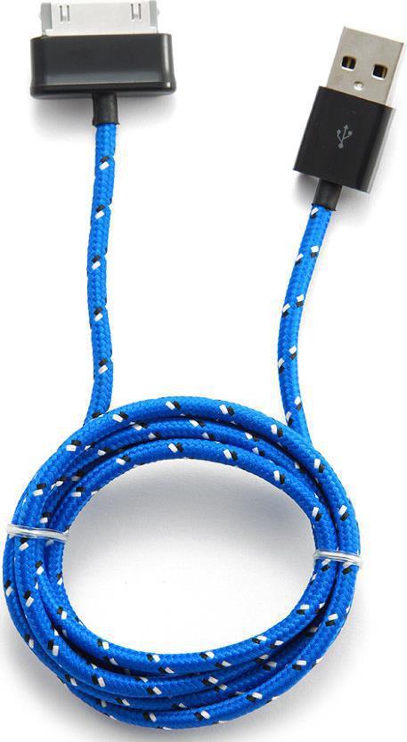 Кабель USB Konoos KC-SamUSBnb для Samsung Galaxy Tab/Note нейлоновая оплетка синий 1м