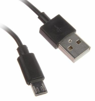 Кабель USB 2.0 AM-microBM черный Continent DCU-4104BK