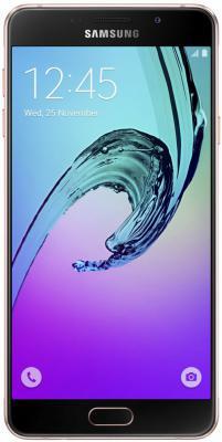 """Смартфон Samsung Galaxy A5 Duos 2016 золотистый розовый 5.2"""" 16 Гб NFC LTE Wi-Fi GPS SM-A510FEDDSER"""