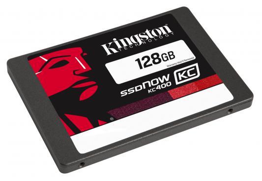 "SSD Твердотельный накопитель 2.5"" 128 Gb Kingston SSDNow KC400 Read 550Mb/s Write 450Mb/s SATAIII SKC400S37/128G"