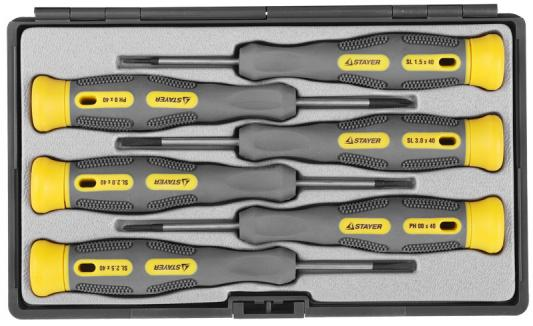Набор отверточный Stayer PRECISION 6шт 25826-H6 G набор ключей накидных изогнутых stayer мастер 27151 h6