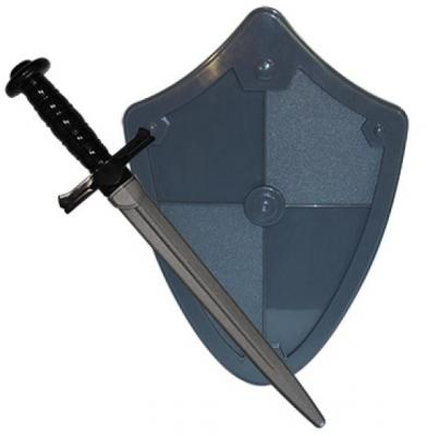 Набор Пластмастер Рыцарь (меч+щит) серый 50031