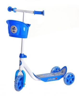 Самокат Moby Kids Кроха синий 64640 самокат трехколесный moby kids мечта 64638