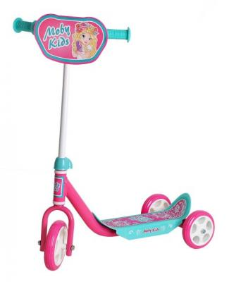 Самокат Moby Kids Мечта розовый 64637 moby kids ролики