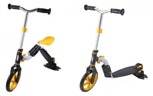Самокат Moby Kids 2 в 1 желтый 64628